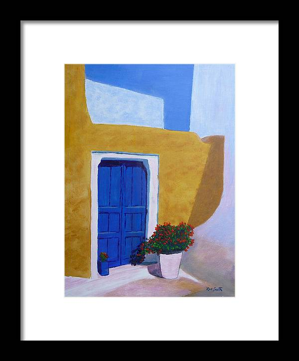 Greece Framed Print featuring the painting Greece Painting by Rae Smith