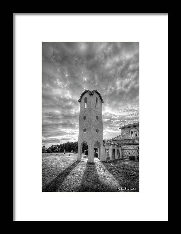 Greek Framed Print featuring the photograph Greek Bell Tower by Brian Fisher
