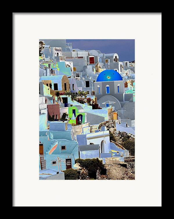 Santorini Framed Print featuring the photograph Greek Isle Of Santorini by Charles Ridgway