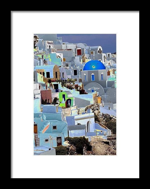 Santorini Framed Print featuring the photograph Greek Isle Of Santorini by Charles Ridgway