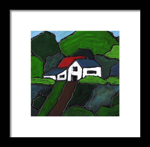 Rural Framed Print featuring the painting Green Acres by Wayne Potrafka