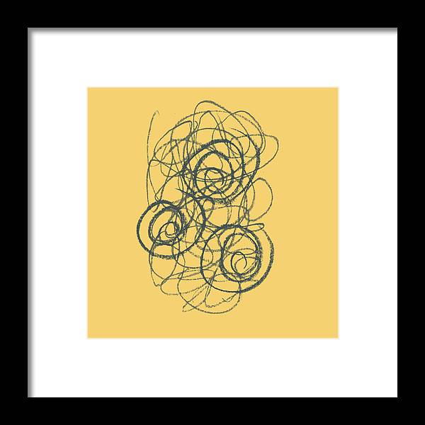 Green Framed Print featuring the painting Green And Gold 2 by Julie Niemela