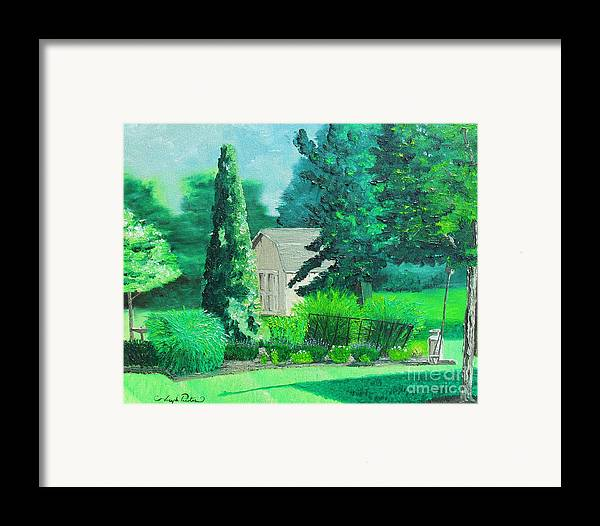Landscape Framed Print featuring the painting Green And Growing by Joseph Palotas