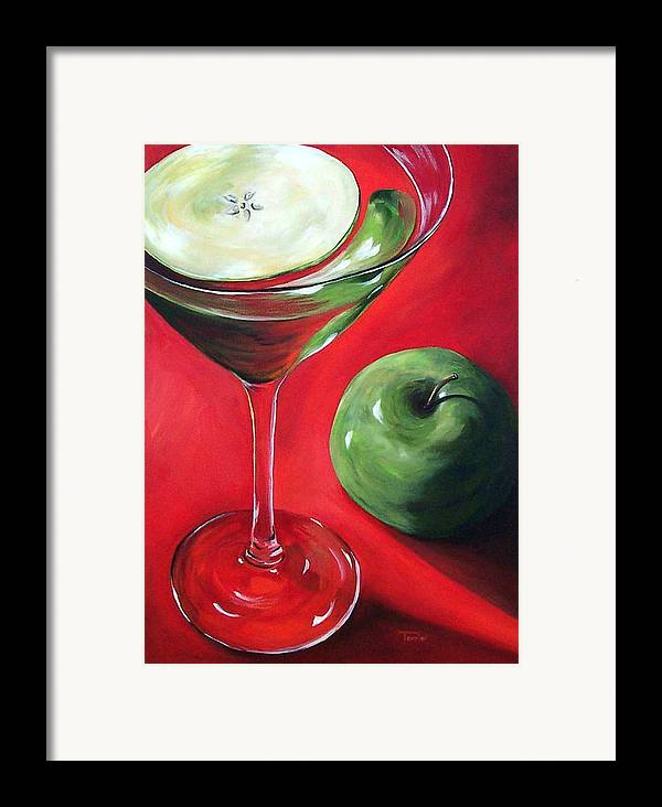 Martini Framed Print featuring the painting Green Apple Martini by Torrie Smiley