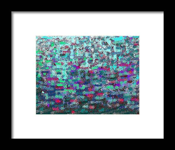 Color Harmony Framed Print featuring the digital art Green by Beebe Barksdale-Bruner