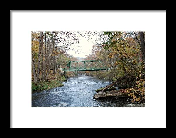 Green Framed Print featuring the photograph Green Bridge by Brian Williams