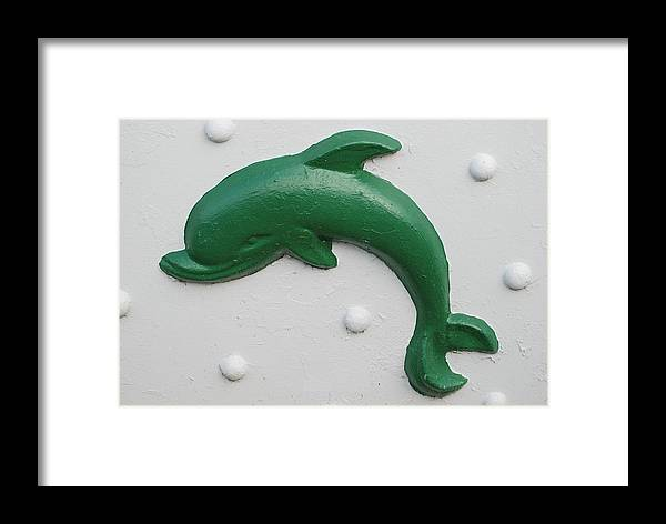 Dolphin Framed Print featuring the photograph Green Dolphin by Rob Hans