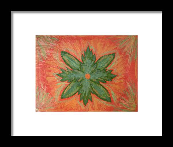 Flower Framed Print featuring the painting Green Dream by Laura Lillo