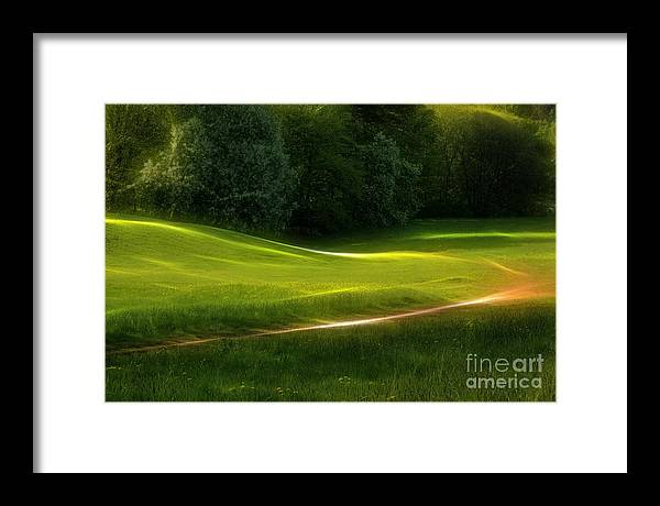 Dream Framed Print featuring the photograph Green Dream by Lutz Baar