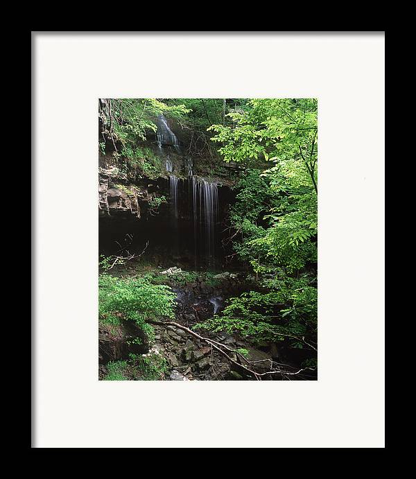 Framed Print featuring the photograph Green-falls by Curtis J Neeley Jr