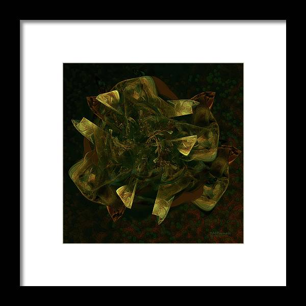 Fractal Framed Print featuring the digital art Green Gold by Diane Parnell