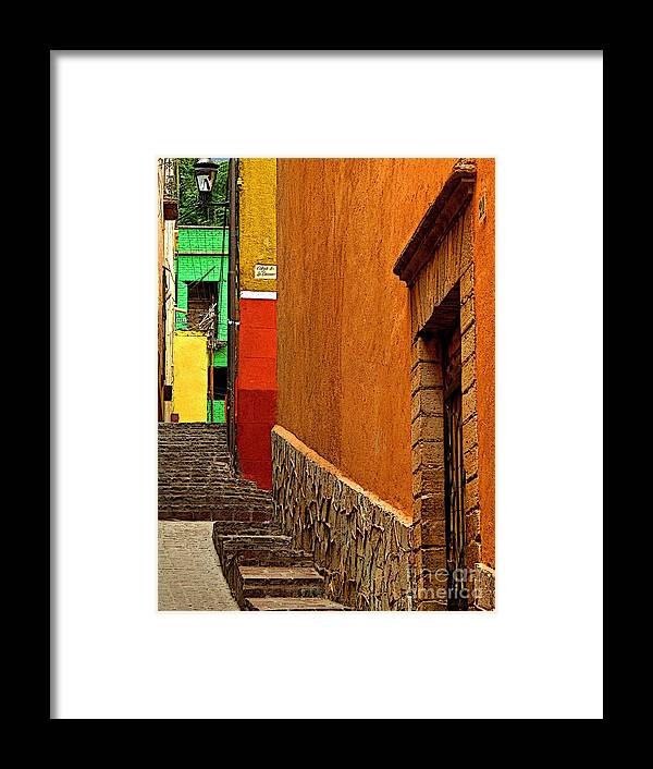 Darian Day Framed Print featuring the photograph Green House At The End Of The Street by Mexicolors Art Photography