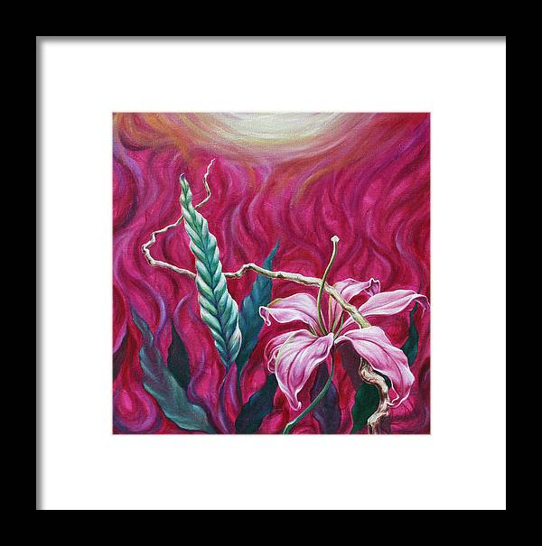 Framed Print featuring the painting Green Leaf by Jennifer McDuffie