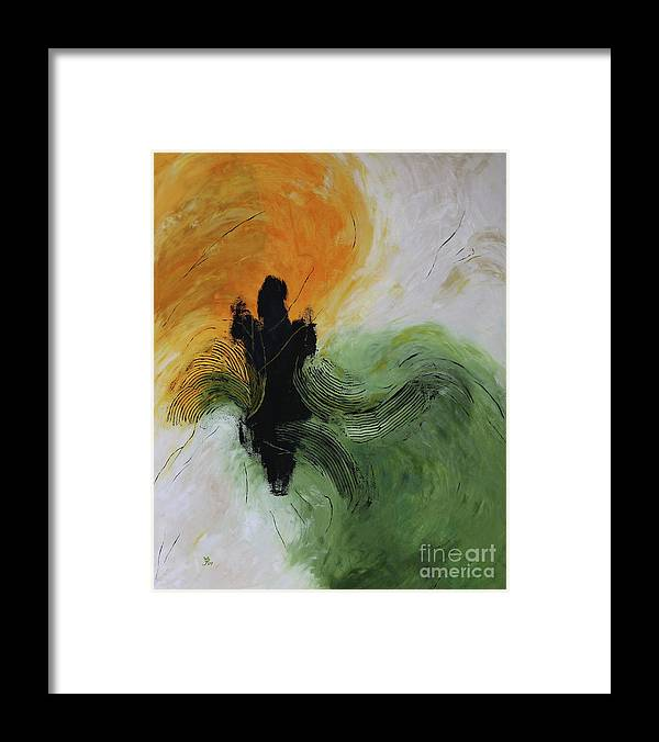 Green Planet Framed Print featuring the painting Green Planet II by Christiane Schulze Art And Photography