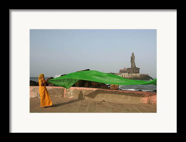 Sari Framed Print featuring the photograph Green by Sam Oppenheim