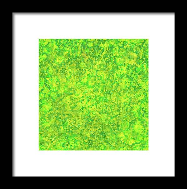 Spring Framed Print featuring the painting Green Spirits by Bart Baird