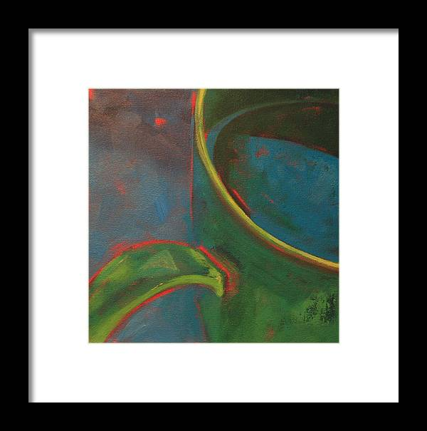 Still Life Framed Print featuring the painting Green Tea by Tina Marie Rothwell