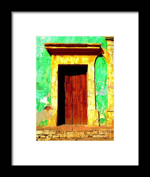 Darian Day Framed Print featuring the photograph Green Wall By Darian Day by Mexicolors Art Photography
