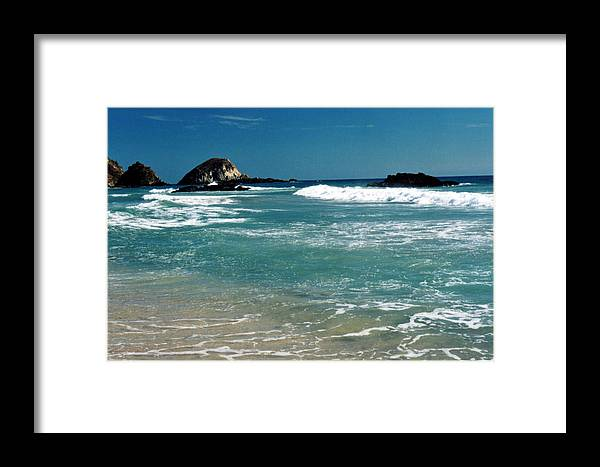Pacific Framed Print featuring the photograph Green Waters Of The Pacific 2 by Lyle Crump