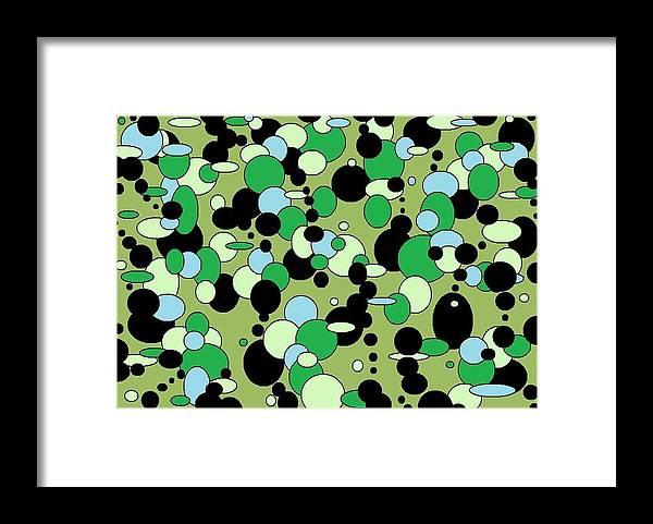 Framed Print featuring the digital art Greenies by Jordana Sands