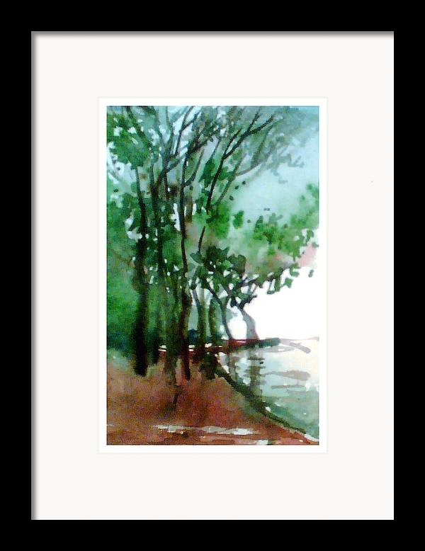 Water Color Framed Print featuring the painting Greens by Anil Nene