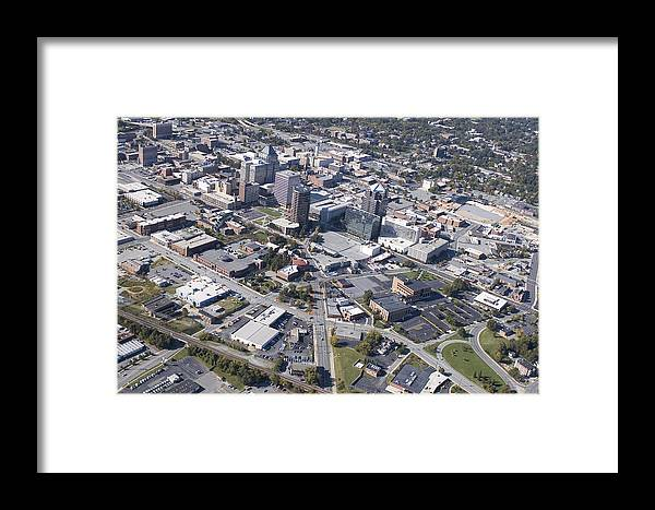 Greensboro Framed Print featuring the photograph Greensboro Aerial by Robert Ponzoni