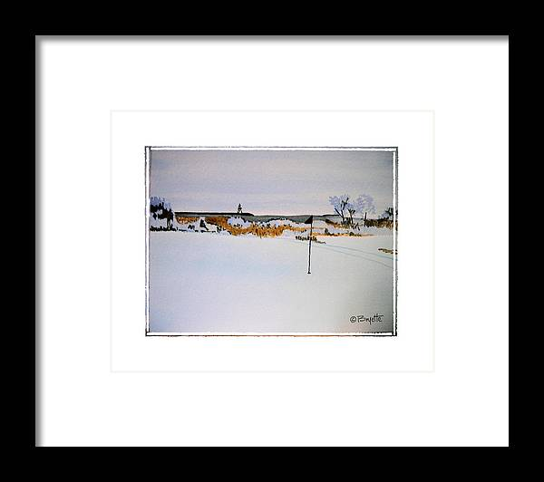 Golf Framed Print featuring the painting Greenskeeper by Robert Boyette