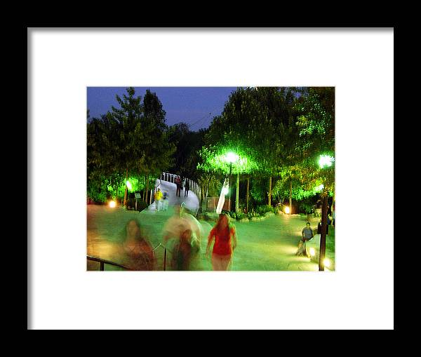 Falls Park Framed Print featuring the photograph Greenville At Night by Flavia Westerwelle
