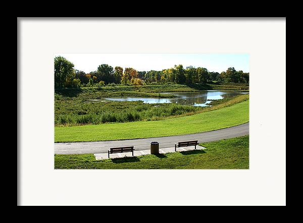 Landscape Framed Print featuring the photograph Greenway by Steve Augustin