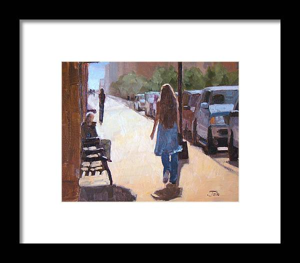 Impressionism Framed Print featuring the painting Greenwich by Tate Hamilton