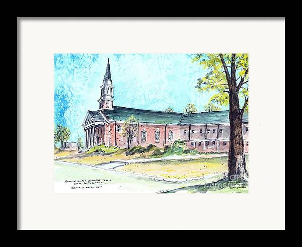 Church Framed Print featuring the painting Greer United Methodist Church by Patrick Grills