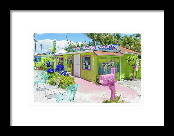 Florida Framed Print featuring the photograph Greetings From Matlacha Island Florida by Edward Fielding