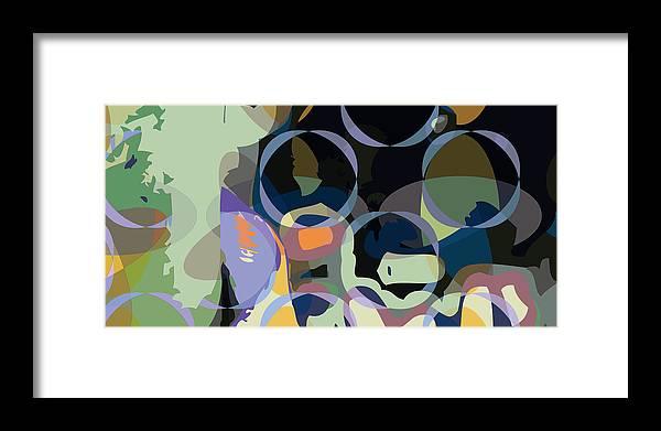 Abstract Framed Print featuring the digital art Greg1 by Scott Davis