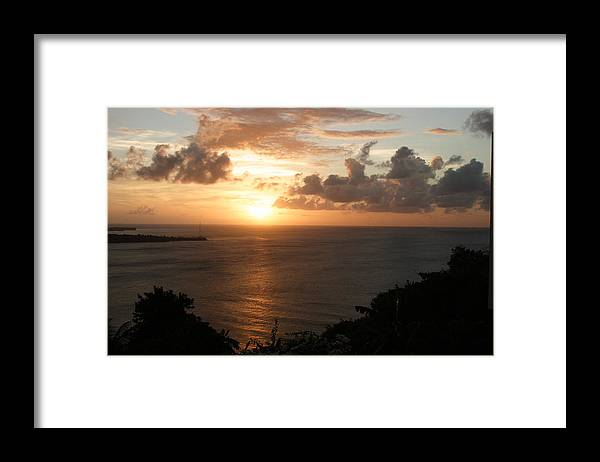Grenada Framed Print featuring the photograph Grenadian Sunset I by Jean Macaluso