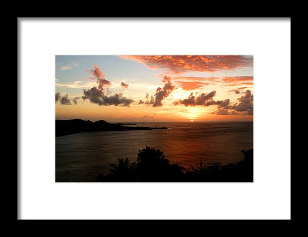 Sunset Framed Print featuring the photograph Grenadian Sunset II by Jean Macaluso