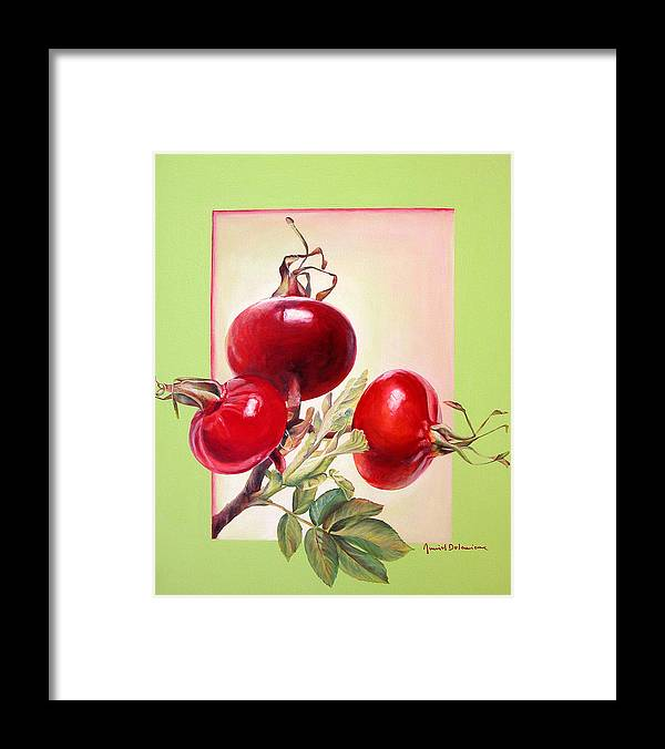 Still Life Framed Print featuring the painting Grenadine by Muriel Dolemieux