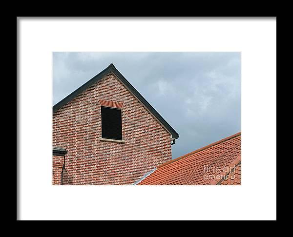 Brick Framed Print featuring the photograph Grey Skyline by Ann Horn