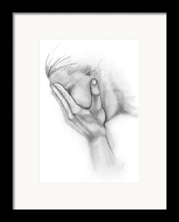 Grief Framed Print featuring the drawing Grief by John Clum