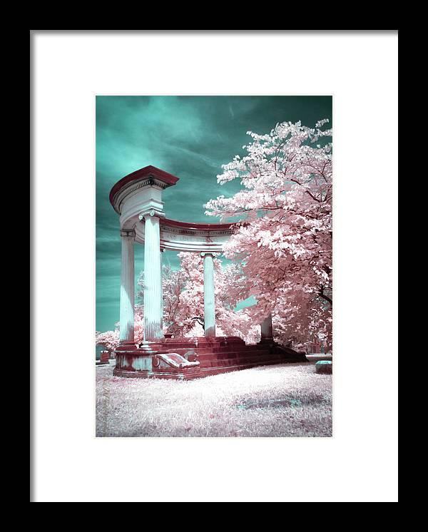 Columns Framed Print featuring the photograph Grieving Columns by Natasha Rawls