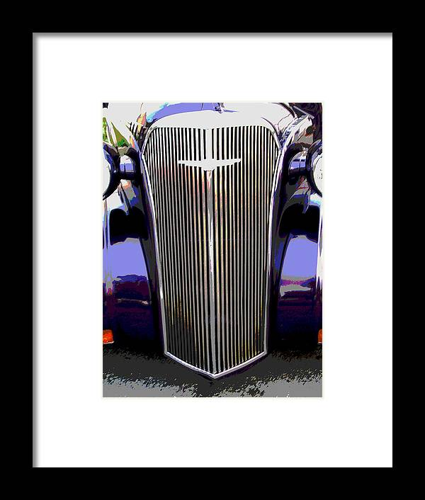 Car Artwork Framed Print featuring the photograph Grill by Audrey Venute