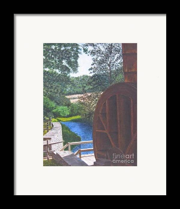 Painting Framed Print featuring the painting Grist Mill by Donald Hofer