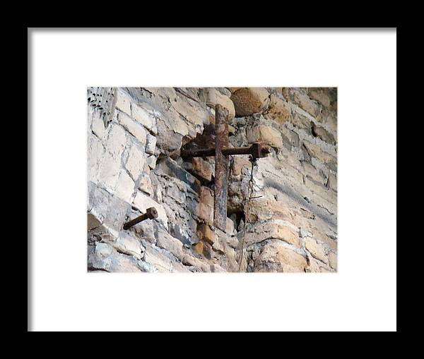 Cross Framed Print featuring the photograph Gristmill Cross One by Ana Villaronga