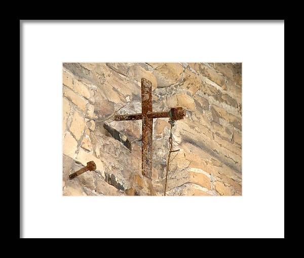 Cross Framed Print featuring the photograph Gristmill Cross Two by Ana Villaronga