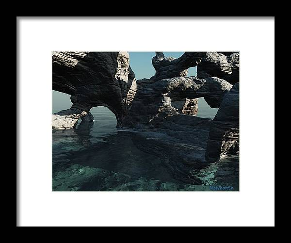 3d Framed Print featuring the painting Grotto by Williem McWhorter