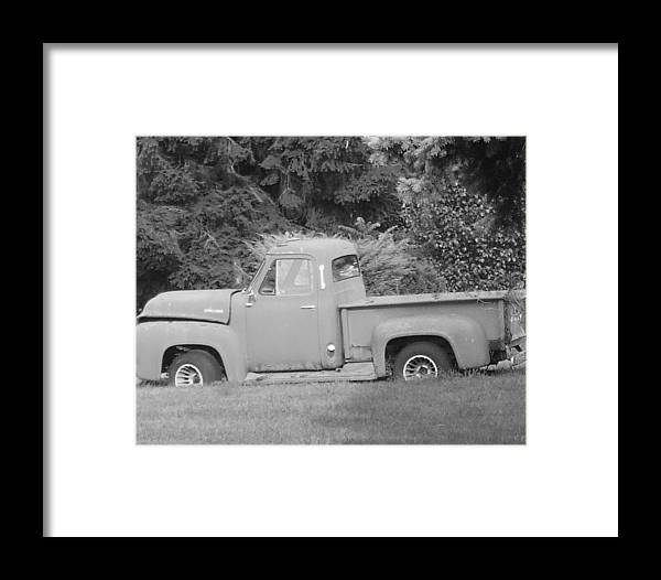 Truck Framed Print featuring the photograph Grounded Pickup by Pharris Art