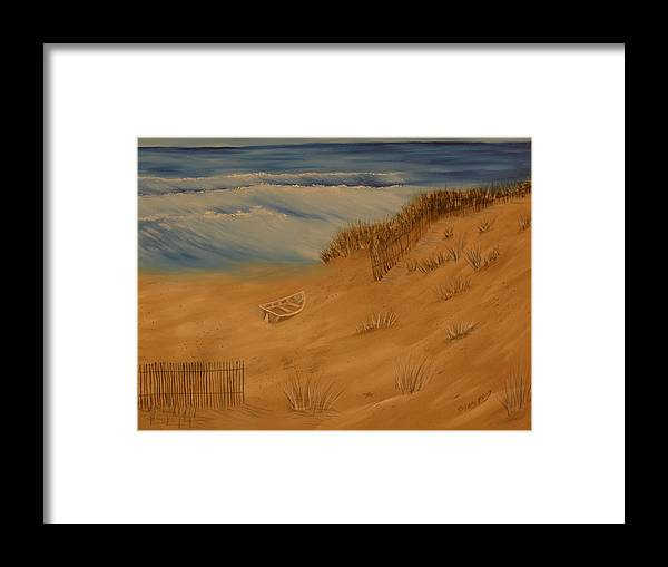 Ocean Framed Print featuring the painting Grounded by Ron Sargent
