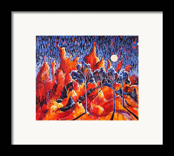 Landscape Framed Print featuring the painting Grove by Rollin Kocsis