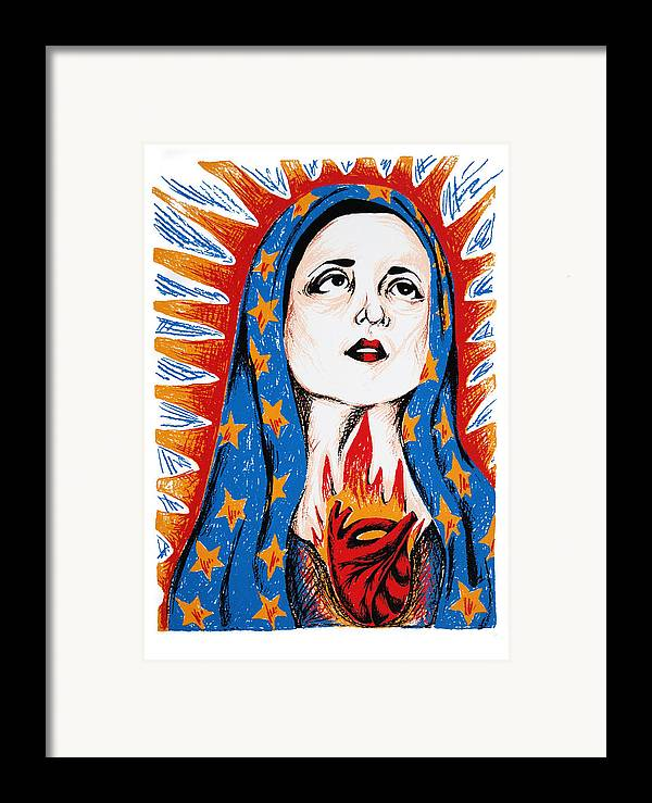 Deann Acton Framed Print featuring the print Guadalupe by DeAnn Acton