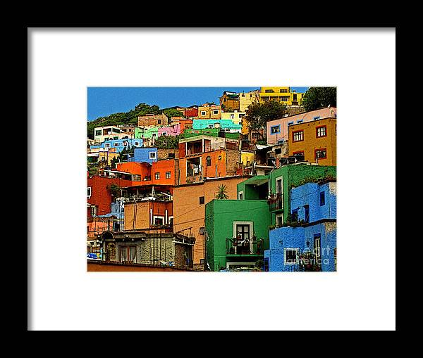 Darian Day Framed Print featuring the photograph Guanajuato Hillside 1 by Mexicolors Art Photography