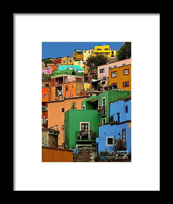 Darian Day Framed Print featuring the photograph Guanajuato Hillside 2 by Mexicolors Art Photography